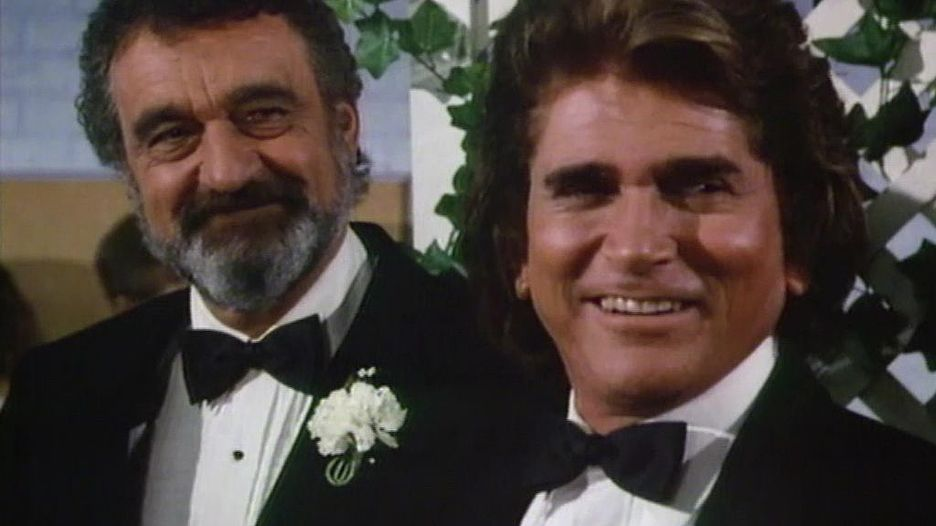 Victor French und Michael Landon